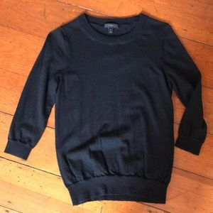 J.Crew black 3/4 sleeve sweater